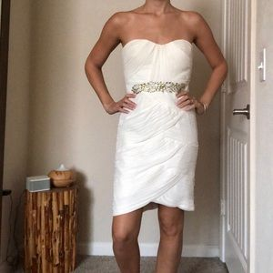 CACHE MIDI WHITE COCKTAIL DRESS SIZE 4